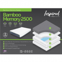 MLily Bamboo Memory 2500 Single Size Mattress